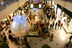 Bussy mall on Christmas Royalty Free Stock Images