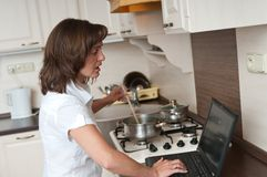 Bussy woman - work at home Stock Images