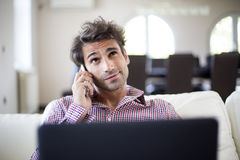 Bussy young man Stock Photography