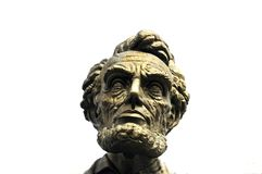 Bust of Abraham Lincoln. Giant bust of Abraham Lincoln overlooking interstate 80 just east of Laramie, Wyoming Royalty Free Stock Images