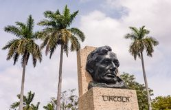 Lincoln Statue - Havana, Cuba stock image