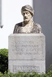 Bust of Al-Gafequi in Cordoba Stock Photo