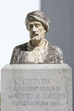 Bust of Al-Gafequi in Cordoba Royalty Free Stock Images