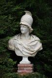 Bust Alexander the Great. Antique Bust Alexander the Great  in Summer Garden Stock Photo