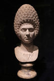 Bust of Ancient Roman Woman Stock Photo