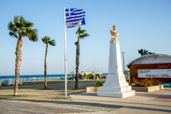 Bust of Athenian general Kimon at Finikoudes beach in Larnaca Royalty Free Stock Images