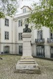 The bust of Augusto Rosa. Actor, in Largo da Se in Lisbon, Portugal Stock Photos