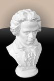 Bust of Beethoven. A bust of Beethoven isolated against a gradient background Royalty Free Stock Images
