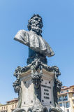 Bust of Benvenuto Cellini in Florence, Italy Stock Images