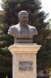 Bust Bobojan Gafurov. Tajikistan, Dushanbe. Tajikistan. Dushanbe - August 14, 2014: Bust-known orientalist, historian and statesman who is awarded the title of Royalty Free Stock Photography
