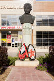 Bust of the boy of scout Sashi Filippova. Volgograd, Russia. VOLGOGRAD, RUSSIA - October 14, 2015: the Monument as a bust to the boy to the scout of great Royalty Free Stock Photo