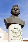 Bust of the boy of scout Sashi Filippova. Volgograd, Russia. VOLGOGRAD, RUSSIA - October 14, 2015: the Monument as a bust to the boy to the scout of great Stock Image