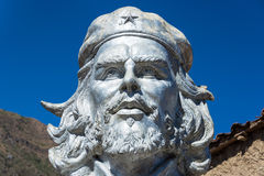 Bust of Che Guevara in La Higuera Royalty Free Stock Photography