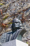 Bust of Christopher Columbus in Calvi Royalty Free Stock Photos