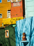 Bust And Colourful Houses In La Boca Stock Image