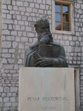 A bust of a Croatian poet in Stari Grad Stock Images
