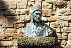 Bust of Dante in an alley in Florence - Tuscany - Italy Stock Photography