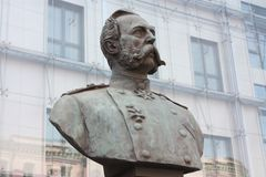 Bust of Emperor Alexander in  Petersburg. Bust of Emperor Alexander in St. Petersburg stock photos