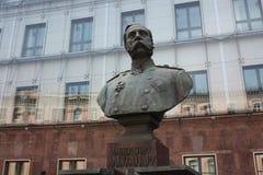 Bust of Emperor Alexander in  Petersburg. Bust of Emperor Alexander in St. Petersburg royalty free stock image