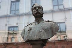 Bust of Emperor Alexander in  Petersburg. Bust of Emperor Alexander in St. Petersburg royalty free stock images