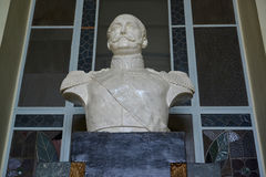 Bust of the emperor Nikolay I building's  of the Vitebsk station Stock Photography