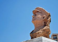 Bust of the famous Spanish musician Alba Paco on the waterfront of Cadiz. Stock Photography