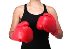 Bust of a female boxer Royalty Free Stock Image