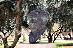 The bust of the founder of the State of Israel, Ben Gurion Royalty Free Stock Photos