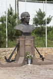 Bust of Fyodor Ushakov in the temple in settlement Kudepsta, Sochi Stock Photos