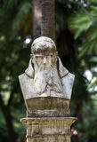 Bust  in Garden of Villa Borghese. Rome Royalty Free Stock Image