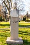 Bust Georgi Kondolov in the Sea Garden of Bourgas, Bulgaria Stock Images