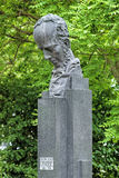 Bust of the German dramatist Christian Dietrich Grabbe in Dusseldorf Stock Photos
