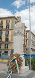 Bust of Giuseppe Mazzini in city center - Naples - Italy Stock Image