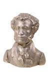 Bust of great Russian poet Pushkin Stock Photos