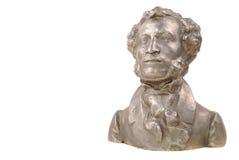 Bust of great Russian poet Pushkin Stock Image