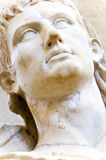 Bust of a Greek emperor. In white marble Stock Image