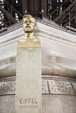 Bust of Gustave Eiffel Stock Photos