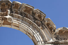 Bust of Hadrian's Arch, Ephesus. Izmir, Turkey Stock Images