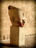 Bust of Hatshepsut in a courtyard of his temple at Deir el-Bahar Stock Image