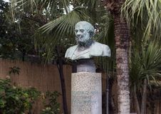 Bust honoring Barolomeo Capasso  in municipal park, Sorrento Stock Photos