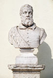 Bust of Joao de Barros in the Sao Pedro de Alcantara Garden. Lis Stock Images
