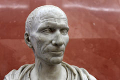 Bust of Julius Caesar. He was a Roman general and statesman and a distinguished writer of Latin prose Stock Photography