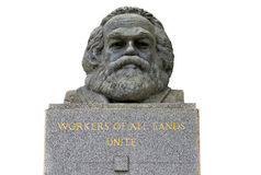 Bust of Karl Marx in Highgate cemetery Stock Photos