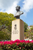 Bust of King Christian IX in Charlotte Amalie Royalty Free Stock Image