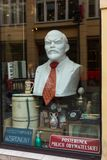 Bust of Lenin and antiques curio in shop window. Poznan. Poland Stock Photos
