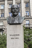Bust of Lenin on the Bolshoy Prospekt of the Petrograd Side in St. Petersburg Stock Photo