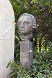 Bust Lomonosov M. V. SOCHI, RUSSIA - November 05, 2015: The monument, a bust to the Russian scientist Lomonosov Mikhail Vasilyevich, is established in park Royalty Free Stock Images