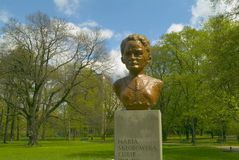 Bust of Maria Sklodowska-Curie Royalty Free Stock Photography