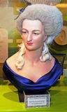 Bust of Marie Antoinette. This bust of Marie Antoinette is on display at Madame Tussauds in Washington, DC Stock Photography