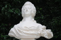 Bust Of Marie Antoinette. This is the bust of the famous Marie Antoinette of France, found in the garden of the Linderhof palace in Germany. She once was queen Royalty Free Stock Images